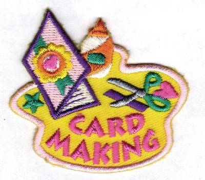 Cub Girl Boy CARD MAKING Fun Patches Crests Badge SCOUT GUIDES donation crafting