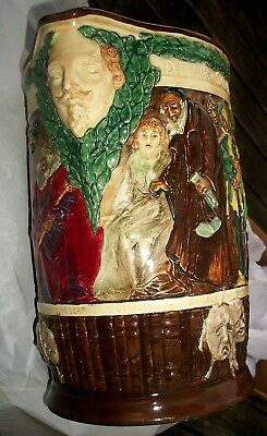 Royal Doulton The Shakespeare Jug Charles Noke #579 Limited 1000 Certificate