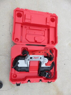 Nice Milwaukee 6232-20 11 amp deep cut portable variable speed band saw tool
