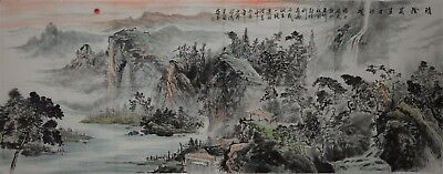 Magnificent Large Chinese Painting Signed Master Zhao Lingnan No Reserve A8492