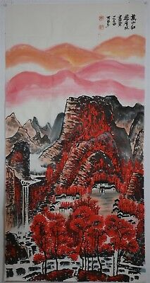 Magnificent Large Chinese Painting Signed Master Li Keran No Reserve S6998