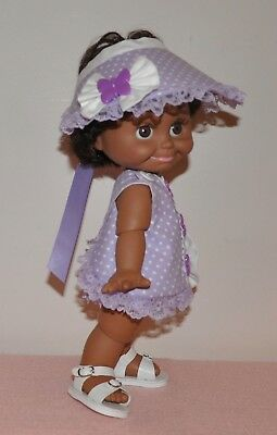 ~ Lavender Butterfly Sundress ~ fits Galoob Baby Face Dolls *HANDMADE*
