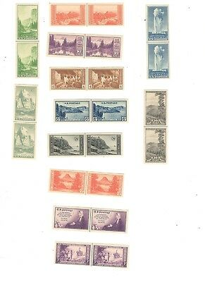 Us Scott# 754-765, Line Pairs, Mng, Complete Set, Farley Specials