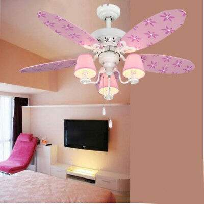 E39 3 Lights Dining Living Room 5 Blade Wood Ceiling Fan Light Lamp ...