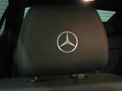 4  MERCEDES-BENZ LOGO Headrest badge decal