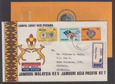 MALAYSIA 1982  Scouts Set on Cover With INSERT Registered