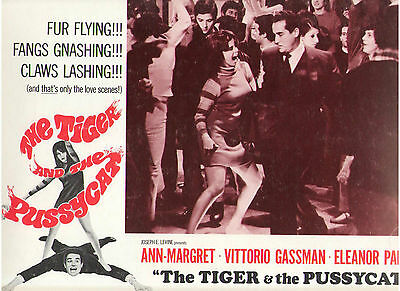 The Tiger And The Pussycat Ann Margret Vittorio Gassman Original Lobby Card #1