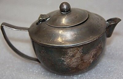 antique silver plate vintage  E.P.N.S. A1 small teapot with lid item number H37