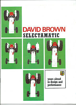 David Brown Selectamatic 1200,990,880,780,780 Narrow 16 Page Sales Brochure