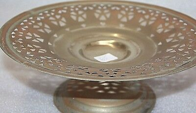 antique silver plate vintage  Gold craft E.P.N.S. A1 PLATE ON STAND LACE / 65