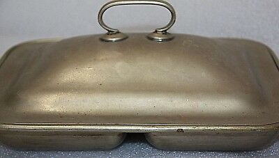 antique silver plate Dunklings Melbourne Made in England double server & lid