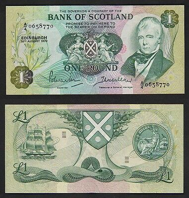 SCOTLAND P-111a.  1970 Bank of Scotland - One Pound.. aUNC