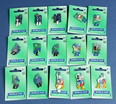 Australia: 2003 Rugby World Cup Pin Collection of 15, Scarce!