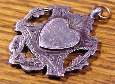 A Victorian Sterling Silver Hallmarked Shield Fob For Antique Albert Watch Chain