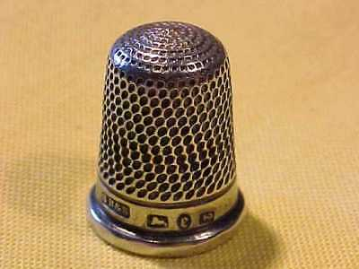 Early Victorian Sterling Silver 1879 Hallmarked Thimble Great Condition = S.b.&s