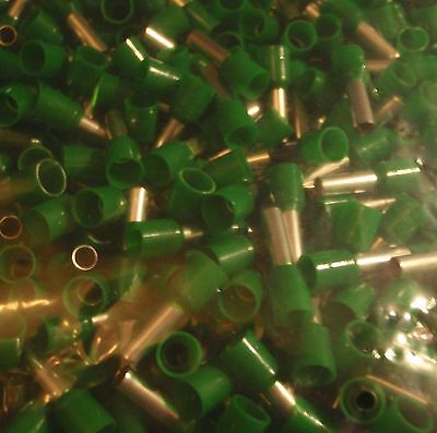 500Pc Wire Cord  End Ferrule Crimp Green 22-20 Awg  E0508