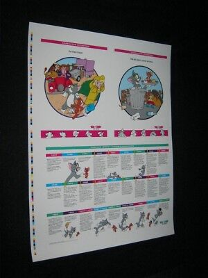 ORIGINAL 1992 Tom & Jerry The Movie History Highlights PRINTER TEST PROOF POSTER