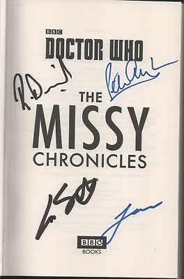 Dr Who Missy The Chronicles Hardback Book Auto by 4 Writers