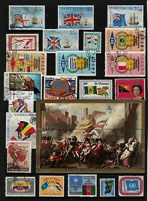FLAGS Thematic STAMP Collection MINT & USED Ref:TS652