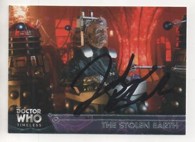 """Dr Who Topps Timeless Trading Card No.66 Auto by Julian Bleach """"Davros"""" DALEKS"""