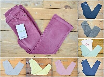 Girls Cotton Chinos Corduroy Multi Listing Capri Trousers Jeans Age 13 - 14