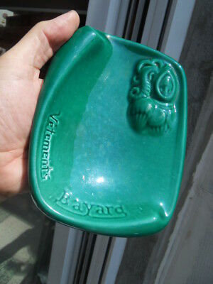 art deco vide poche cendrier ashtray faience Pub Vetement BAYARD Decat Paris