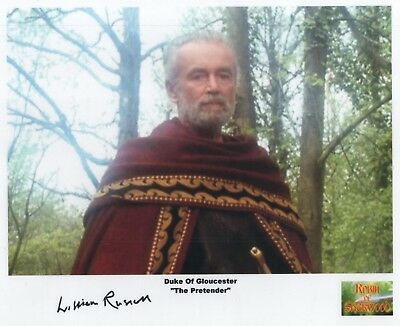 "Robin of Sherwood Auto Photo Print William Russell ""Duke of Gloucester"""