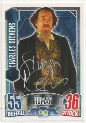 """Dr Who Alien Attax Trading Card No.127 Auto by Simon Callow """"Charles Dickens"""""""