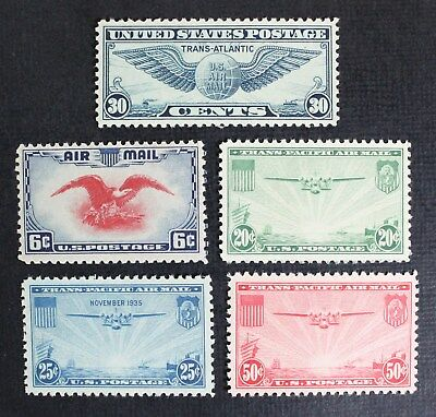 CKStamps: US Air Mail Stamps Collection Scott#C20-C24 (5) Mint NH OG