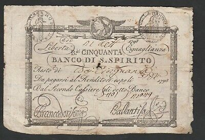 Banknote From Italy 1798 C1