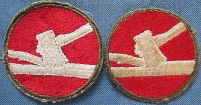 "Lot of 2 WWII US Army 84th Infantry Division shoulder patches; 1 is ""greenback"""