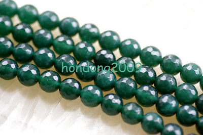 """8mm  Faceted Green beryl  Round Gemstone Loose Beads 15"""""""