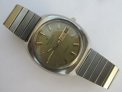 Vintage Men's FAVRE-LEUBA GENEVE DUOMATIC Automatic Day-Date Watch Swiss Made
