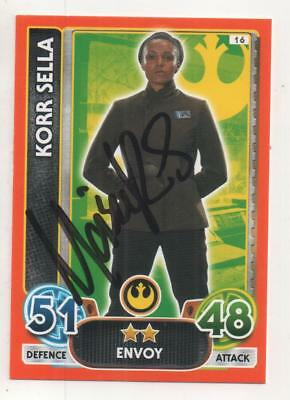"Star Wars Force Attax Auto Trading Card Maisie Richardson-Sellers ""Korr Sella"""