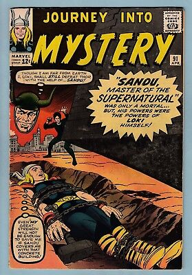 Journey Into Mystery # 91 Vg+  Early Thor & Only Sandu Appearance - 1963 - Cents