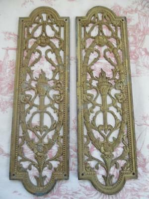 Pair Antique French Brass Finger Plates For A Door