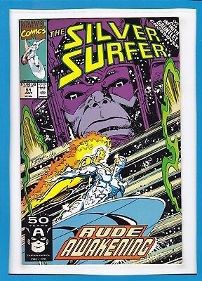 Silver Surfer #51_July 1991_Very Fine Minus_Thanos_Infinity Gauntlet Crossover!