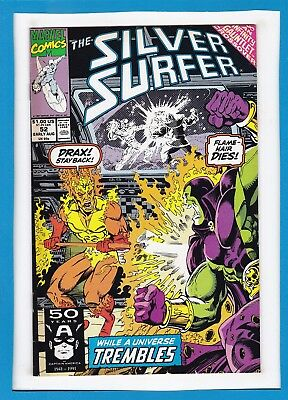 Silver Surfer #52_Early Aug 1991_Vf_Thanos_Drax_Firelord_Infinity Gauntlet!