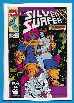 Silver Surfer #56_Early Oct 1991_Very Fine+_Thanos_Infinity Gauntlet Crossover!