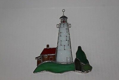 Beautiful Lighthouse Stained Glass Sun Catcher