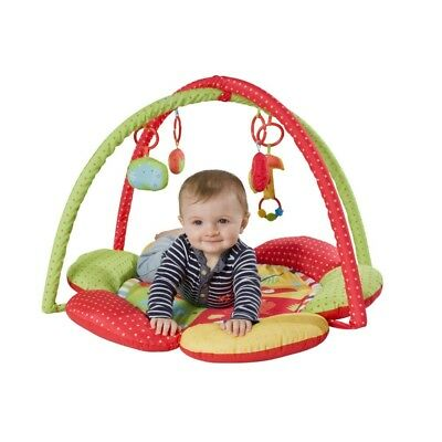 Red Kite Play Gym Safari - Activity Mat Padded Hanging Toys Baby Playmat New