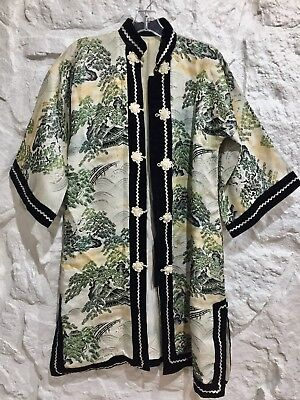 Fine VINTAGE Antique Heavily HAND EMBROIDERED CHINESE Robe