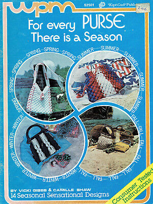 MACRAME ~ FOR EVERY PURSE (HANDBAG) THERE IS A SEASON 14 x GREAT DESIGNS