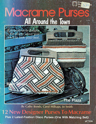 MACRAME ~  PURSES (HANDBAGS) all AROUND THE TOWN - 12 x DESIGNER MACRAME DESIGNS