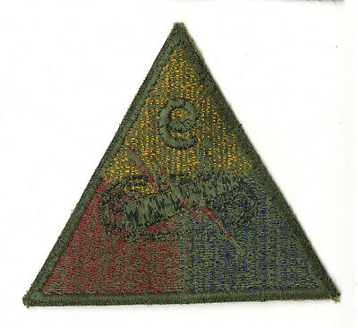 Wwii Original 9Th Armored Division Green Back Patch Bulge Remagen Germany