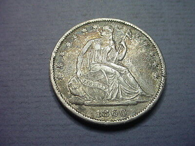 US Seated Liberty 1/2 Dollar Contemporary(?) 1860 #61806