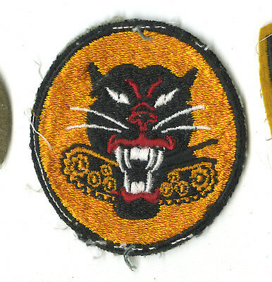 Wwii Original Tank Destroyers White Back Patch 8 Wheels Europe