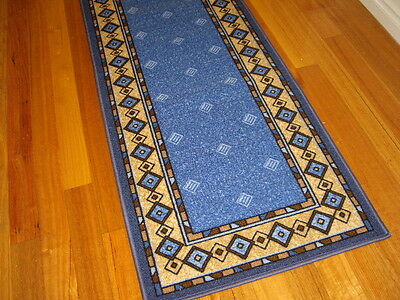 Hallway Runner Hall Runner Rug Modern Blue 5 Metres Long FREE DELIVERY