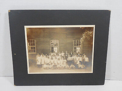 Vintage Antique 1930S Wood School House Elementary 2-3 Grade Class Group Photo