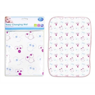 First Steps Baby Changing Mat - Travel Nappy Home Wipe Clean Pink Blue Tiger